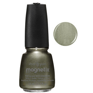 Cling on Magnetix China Glaze Silvery Olive Green Nail Varnish