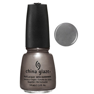 Hook and Line China Glaze Steel Grey Shimmer Nail Varnish