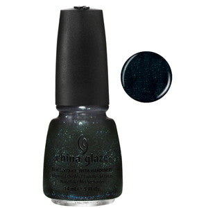 Smoke and Ashes China Glaze Black Blue Green Glitter Nail Varnish