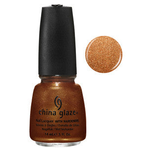 Harvest Moon China Glaze Burnt Brown Copper Shimmer Nail Varnish
