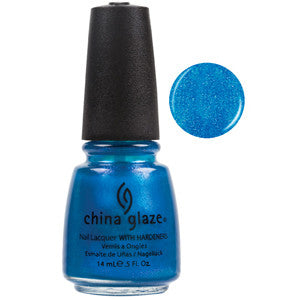 Blue Iguana China Glaze Bright Bright Blue Shimmer Nail Varnish