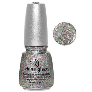 Polarized China Glaze Silver Holographic Glitter Nail Varnish