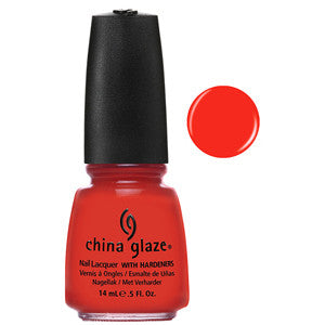 Make Some Noise China Glaze Bright Orange Red Nail Varnish