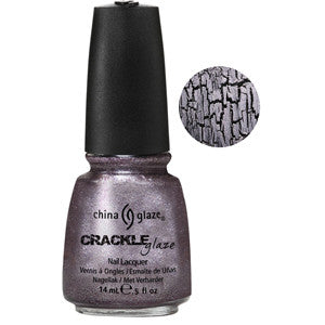 Latticed Lilac China Glaze Lilac Metallic Crackle Nail Varnish