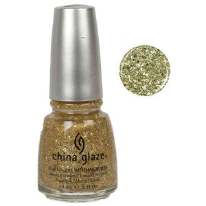 Blonde Bombshell China Glaze 3D Gold Glitter Nail Varnish