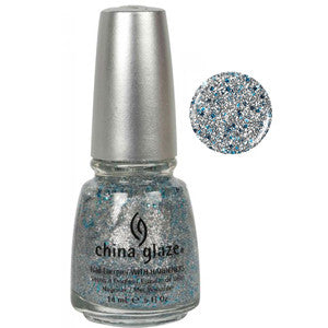 Lorelei's Tiara China Glaze Silver & Blue Glitter Nail Varnish