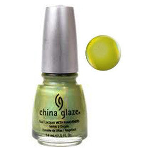 L8R G8R China Glaze Lime Holographic  Nail Varnish