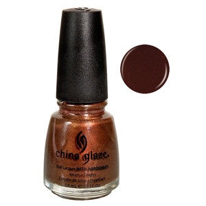Unplugged China Glaze Dark Brown Shimmer Nail Varnish