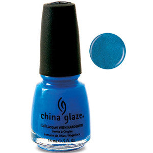 Blue Sparrow China Glaze Blue Neon Glitter Nail Varnish