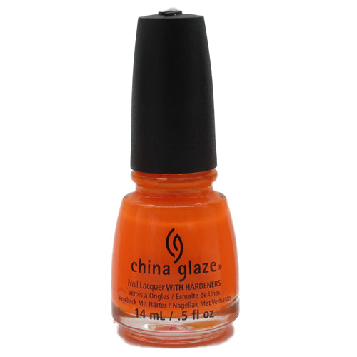 Japanese Koi China Glaze Nail Varnish 14ml Neon Orange Shade