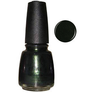 Gussied Green China Glaze Dark Green Shimmer Nail Varnish
