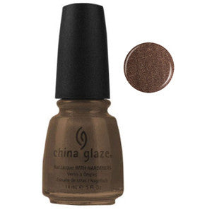 Prize Winning Mare China Glaze Golden Brown Shimmer Nail Varnish