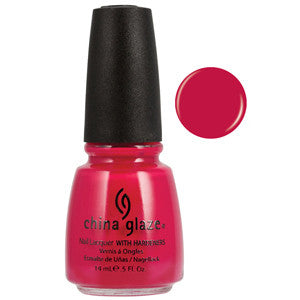 Heli-Yum China Glaze Bright Rasberry Pink Nail Varnish