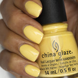 Lemon Fizz China Glaze Soft Yellow Creme Nail Varnish