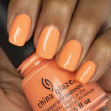 China Glaze Flip Flop Fantasy 14ml in Neon Orange shade