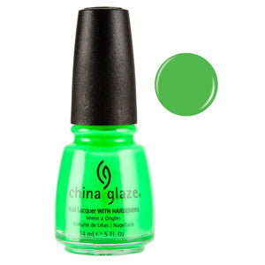 Kiwi Cool-Ada China Glaze Neon Green Nail Varnish