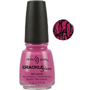 Broken Heart China Glaze Pink Crackle Nail Varnish to be apply over another colour