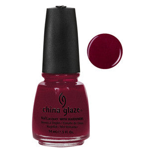 Lofty Ambitions China Glaze Rich Wine Red Shimmer Nail Varnish