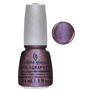 When Stars Collide China Glaze Maroon Holographic Nail Varnish