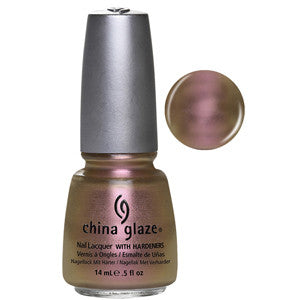 Swanky & Silk China Glaze Pale Peach Chrome Nail Varnish
