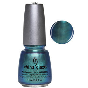 Deviantly Daring China Glaze Teal Chrome Shimmer Nail Varnish