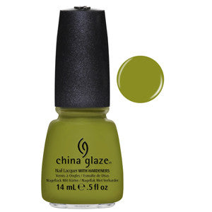 Budding Romance China Glaze Moss Green Nail Varnish