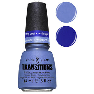 Modify Me China Glaze Periwinkle Nail Varnish changes colour with Fast Forward Top Coat