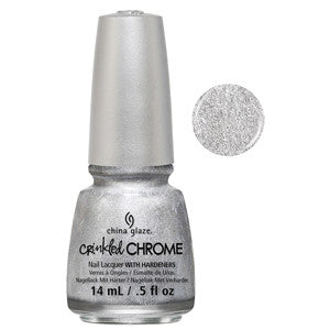 Aluminate China Glaze Silver Crinkled Chrome Nail Varnish