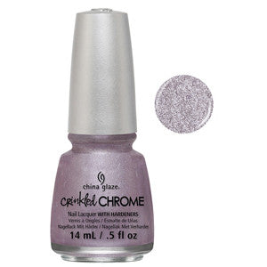 Crush Crush Baby China Glaze Purple Crinkled Chrome Nail Varnish