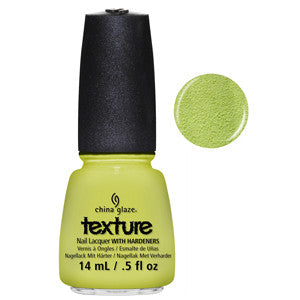 In the Rough China Glaze Light Lime Sand Look Nail Varnish