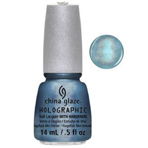 Don't Be a Lunatic China Glaze Tuquoise Aqua Holohgraphic Nail Varnish