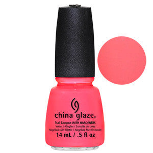 Shell-O China Glaze Neon Coral Pink Jelly Nail Varnish