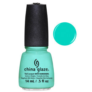 Too Yacht Too China Glaze Blue Green Neon Nail Varnish