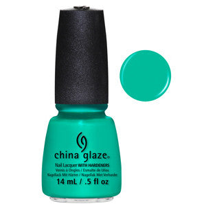 Keepin It Teal China Glaze Neon Turquoise Jelly Nail Varnish