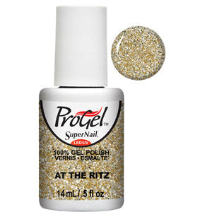 At the Ritz Gold Glitter ProGel UV LED Gel Polish 14ml