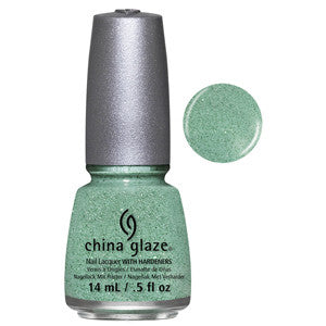 Teal The Tide Turns China Glaze Textured Green Teal Glitter Nail Varnish
