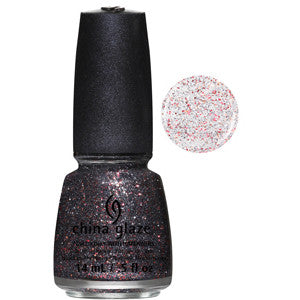 Loco-Motive China Glaze Gun Metal & Red Glitter Nail Varnish