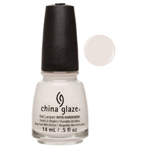Sheer Bliss China Glaze Soft Off White with Pink Shimmer Nail Varnish