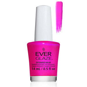 Adrenalline Rush Everglaze Bright Deep Pink Purple Extender Wear Nail Varnish