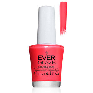 Floral Escent Everglaze Extender Wear Bright Pink Citrus Nail Varnish