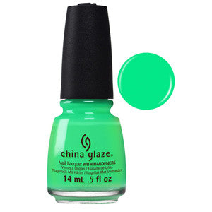 Treble Maker Mini China Glaze Neon Green Nail Varnish