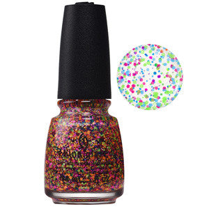 Point Me To The Party China Glaze Neon Multi Glitter Nail Varnish