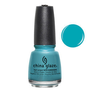 Rain Dance The Night Away Mini China Glaze Bright Turquoise Nail Varnish