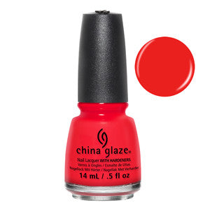 The Heat is On Mini China Glaze Red Orange Nail Varnish
