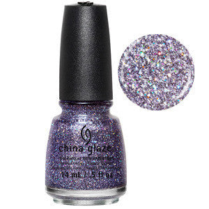 Pick Me Up Purple China Glaze Purple Holographic Glitter Nail Varnish