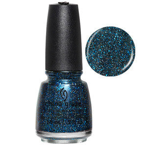 Star Hopping China Glaze Midnight Blue Holographic Glitter Nail Varnish