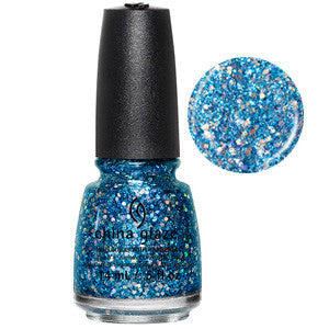 Can You Sea Me China Glaze Blue & SIlver Glitter  Nail Varnish