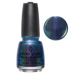 Pondering China Glaze Deep Amethyst Duo Chrome Shimmer Nail Varnish