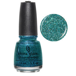I Soiree I Didn't Do It China Glaze Bright Green Glitter Nail Varnish