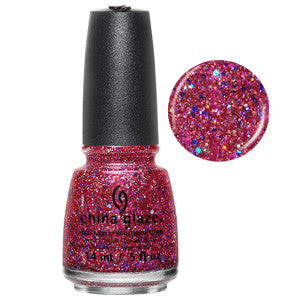 Ugly Sweater China Glaze Red Glitter Nail Varnish
